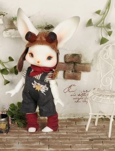 Yeowoo Rabbit Toys, Bunny Toys, Pretty Dolls, Cute Dolls, Bjd Dolls, Doll Toys, Paper Mache Diy, Furry Girls, 3d Prints