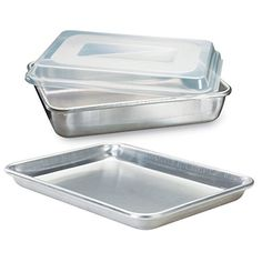 Nordic Ware Natural Aluminum Commercial Bakers Set Quarter Sheet And Cake Pan Remarkable Discounts Available Baking Pans