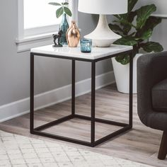 Belham Living Sorenson End Table with Marble Top | from hayneedle.com