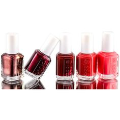 Essie Nail Polish Reds ❤ liked on Polyvore featuring beauty products, nail care, nail polish, beauty, essie, essie nail polish and essie nail color