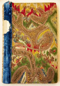 Embroidered cover. Jeanne Lanvin's Private Library