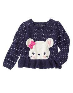 Mouse Peplum Sweater
