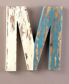 PERSONALISED RUSTIC WOOD LARGE MONOGRAM INITIALS WALL HANGING LETTERS ART DECOR $10.45