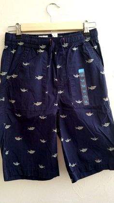 The Childrens Place Nautical Whale Shorts Sz 14 NWT Elastic Waist #TCP