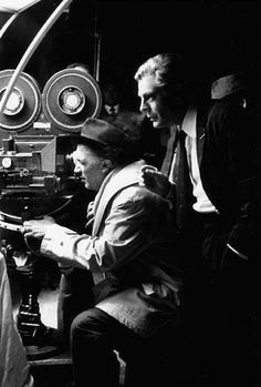 Frederico Fellini and Marcello Mastroianni on the set of Cine Cita, Rome, June 1962 Verona, Marcello Mastroianni, Amalfi, Film Movie, Movies, Cartoon Tv Shows, Historical Images, Great Films, Actors