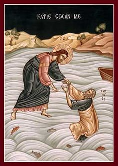 Lord, Save Me; Christ Walking on the Water, The Holy Transfiguration Monastery Store