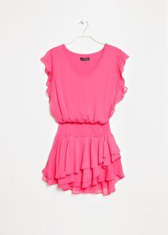 Chiffon ruffled dress