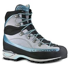 La Sportiva Trango Alp Evo GTX Mountaineering Boot Womens Ice Blue 43 -- Check out this great product. (This is an affiliate link) Trekking Shoes, Hiking Shoes, Best Water Shoes, Mountaineering Boots, Dere, Hiking Boots Women, Louis Vuitton, Sport Sandals, Boots For Sale