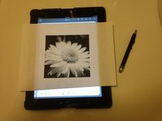 Did you know you can trace through paper onto your iPad (Mini), iPhone, and iPod Touch? Check out this trick to see how...