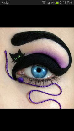 Halloween eye makeup ideas - Halloween - cat - makeup #halloween