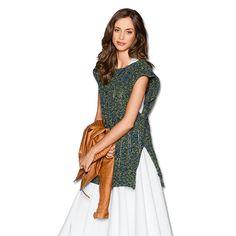 Modell 020/5, Pullunder aus Swing von Junghans-Wolle « Tops & Pullunder « Damenmodelle « Strickmodelle Junghans-Wolle « Stricken & Häkeln im Junghans-Wolle Creativ-Shop kaufen