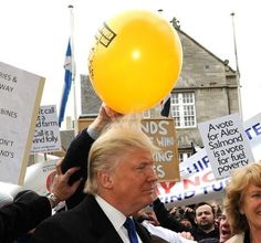 """If you had a balloon why wouldn't you do this to Donald Trump?"""