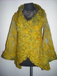 saco de gasa de algodón, vellón de merino e hilos de seda www.artefieltros.com