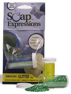 """Soap Glitter- Green Emeralds 1/4"""" Oz"""