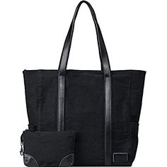 #1 Top Recommended Laptop Bag for Women - LARGE Laptop Tote for Women up to 17 Inches- Multi-Pocketed Tote Bag Pefect for Work, Business, Office, Travel, School, Bonus Pouch