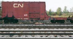 CN 58270 Utility and Generator Car, Taken at St.Hubert, QC Summer 1997. Canadian National Railway, Burlington Northern, Old Trains, Rolling Stock, Diesel Engine, Model Trains, Locomotive, Wonders Of The World, Yards