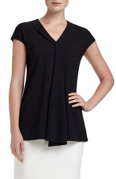Lafayette 148 New York V-Neck Drape Top