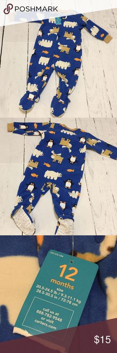 Soft Winter Pajamas Super soft, cozy pajamas! Moose, polar bears and penguins....just in time for winter :) Carter's Pajamas