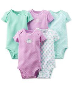 Carter's Baby Girls' 5-Pack Bodysuits - Kids Baby Girl (0-24 months) - Macy's