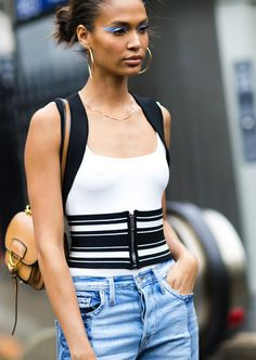 Image result for waist cinchers street style