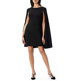 Adrianna Papell Structured Cape Sheath Dress #Dillards