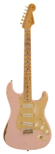 Fender Electric Guitar Custom Shop 1957 Stratocaster Heavy Relic Shell Pink | Rainbow Guitars