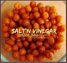 Salt & Vinegar Chickpeas. #vegan #glutenfree #soyfree