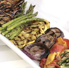 Grilled vegetables are an easy and delicious accompaniment.