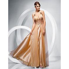 Κομψό - Φόρεμα - Θήκη/Στήλη - Λουριά - Μέχρο το Πάτωμα – EUR € 149.99