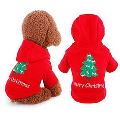 XY Fancy Noble Dog Hoodie Christmas Red Clothes Pet Apparel For Winter Casual Outdoor >>> See this great image  : Christmas for Cats