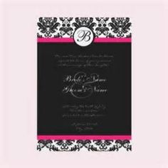 Yahoo! Image Search Results for black pink wedding invitations