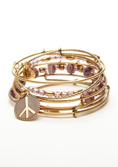 Bought the peace bangle for my mom @Hope Conner at Henri Bendel in NYC...her is silver!