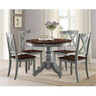 Standard Furniture Amelia 5 Piece Dining Table Set Walmart Com Round Dining Room Round Dining Table Dining Table