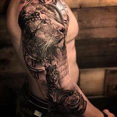 Top Tatuagens on Ins Lion Forearm Tattoos, Lion Head Tattoos, Mens Lion Tattoo, Cool Arm Tattoos, Arm Tattoos For Guys, Hand Tattoos, Maori Tattoos, Lion Tattoos For Men, Full Hand Tattoo