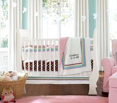 Shop coco dot nursery bedding set from Pottery Barn Kids. Find expertly crafted kids and baby furniture, decor and accessories, including a variety of coco dot nursery bedding set. Nursery Bedding Sets, Nursery Room, Girl Nursery, Girl Room, Nursery Decor, Nursery Ideas, Room Baby, Baby Bedding, Aqua Nursery