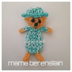 mama Berenstain Rainbow Loom Bands  Charm Figure by Loomie World How to