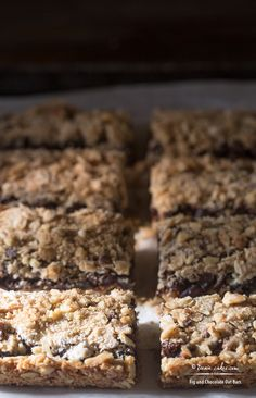 Fig and Chocolate Oat Bars Chocolate Oat Bars Recipe, Chocolate Oatmeal, Fig Varieties, Fig Balsamic Vinegar, Dried Fig Recipes, Fig Spread, Fig Bars, Dried Figs, Oatmeal Bars