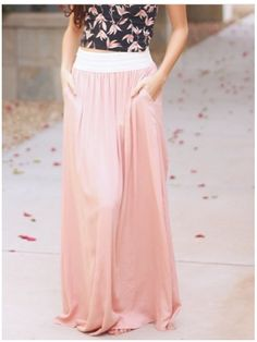 **** Get beautiful looks like this one today from Stitch Fix delivered right to your door! Obsessed with this pale pink maxi with pockets!  Everything is better with pockets!! Stitch Fix Spring, Stitch Fix Summer, Stitch Fix Fall 2016 2017. Stitch Fix Spring Summer Fall Fashion. #StitchFix #Affiliate #StitchFixInfluencer