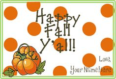 Fall Gift Tag for Teachers--Easy I made on PowerPoint