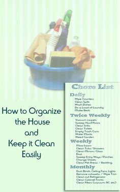 Learn how to master clutter and always have a clean home with these chore lists and simple tips for keeping the home organized.