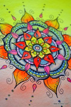 Love the shapes and colors of this mandala. Dion Dior: Wisdom Circles