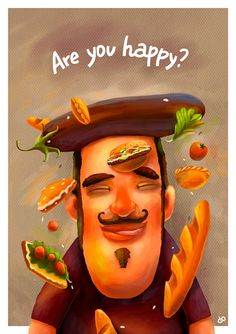 Are you happy? - Fil Dunsky illustrations