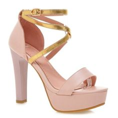 Concise Color Block and Chunky Heel Design Women's Sandals #men, #hats, #watches, #belts, #fashion