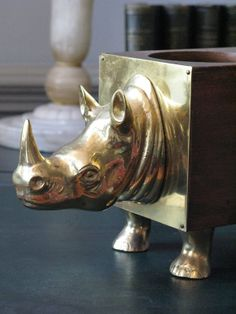 Charming 1950s/60s Spanish Rhino Bottle Holder