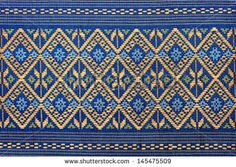 thai silk fabric pattern background