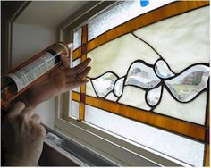 How to install stained glass into an existing window frame