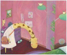 Francesca Assirelli Illustration - francesca, assirelli, francesca assirelli, acrylic, acrylic paint, paint, painted, commercial, trade, picturebook, picture book, animals giraffes