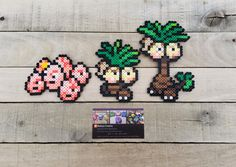Exeggcute Family - Pokemon Perler Bead Sprites by MaddogsCreations
