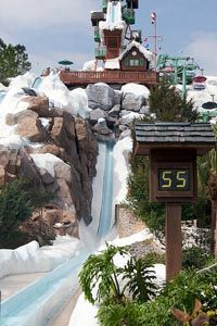 Blizzard Beach in Walt Disney World.  My concept for a waterpark from when I worked at Disney Imagineering - Melting Ski Resort!  Big Fun.