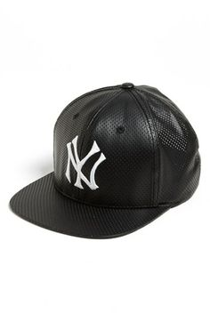 American Needle 'New York Yankees - Delirious' Faux Leather Snapback Baseball Cap | Nordstrom
